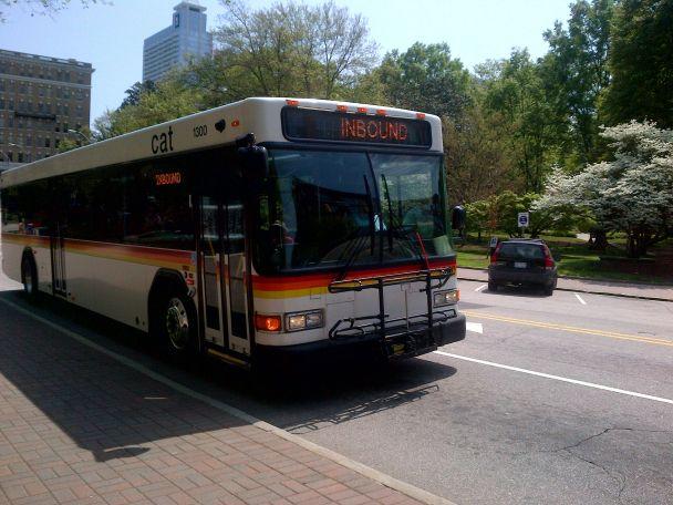 CAT Raleigh bus