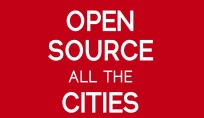 Open source all the cities sticker