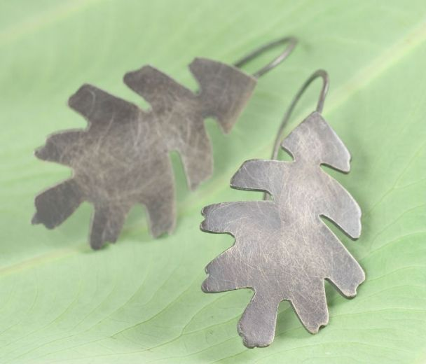 becky wofford: custom oak earrings