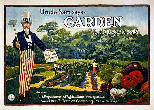 Plant a garden WWII poster