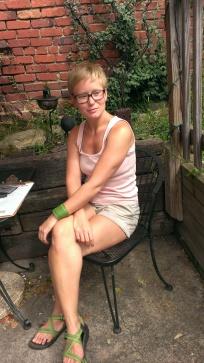 Amanda in wine garden