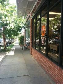 Person Street Pharmacy glass window